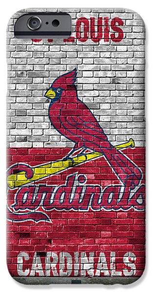 St Louis Cardinals Brick Wall IPhone Case by Joe Hamilton