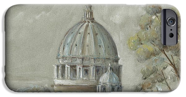 St Peter's Basilica Rome IPhone Case by Juan Bosco