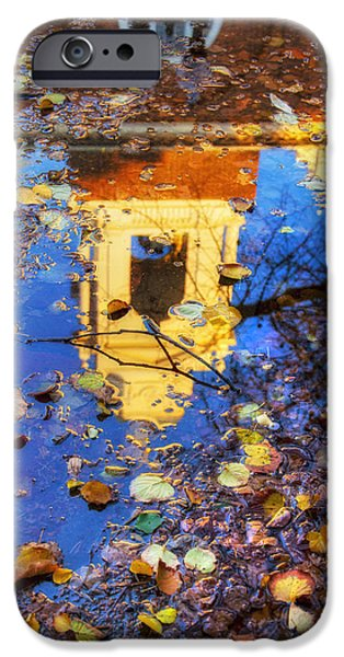 St. Stephen's Church Autumn Reflection - Boston IPhone Case by Joann Vitali