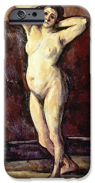 Standing Nude Woman IPhone Case by Cezanne