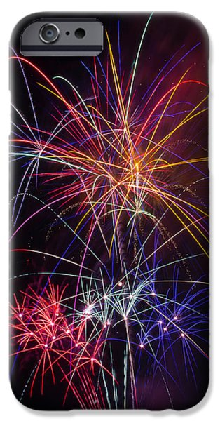 Star Spangled Fireworks IPhone Case by Garry Gay