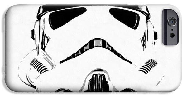 Star Wars Stormtrooper Helmet Graphic Drawing IPhone Case by Emf
