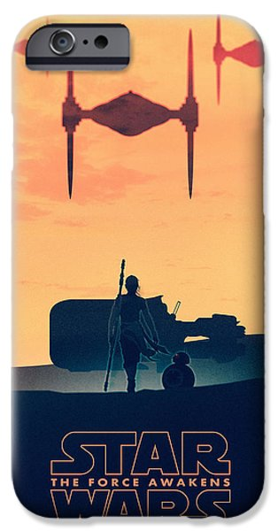 Star Wars The Force Awakens - Rey IPhone Case by Farhad Tamim