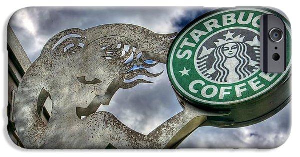 Starbucks Coffee IPhone Case by Spencer McDonald