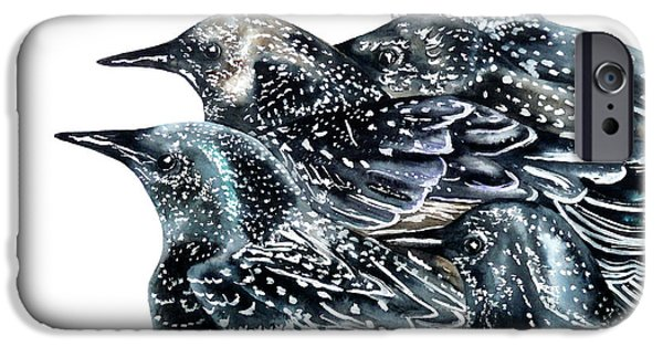 Starlings IPhone 6s Case by Marie Burke