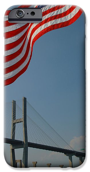 Stars And Stripes In Savannah IPhone Case by Suzanne Gaff