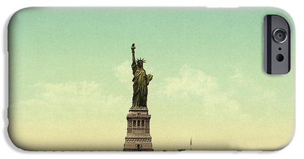 Statue Of Liberty, New York Harbor IPhone Case by Unknown