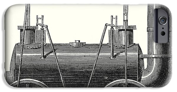 Stephenson's Locomotive With Coupled Wheels  IPhone Case by English School