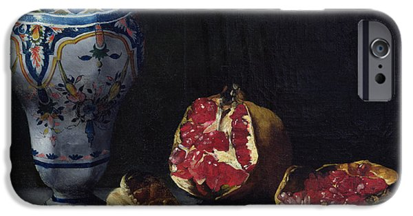 Still Life With A Pomegranate IPhone Case by Auguste Theodule Ribot