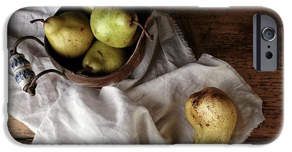 Still-life With Arrangement Of Pears  IPhone Case by Nailia Schwarz