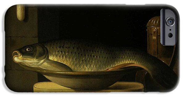 Still Life With Carp  IPhone Case by Nichon
