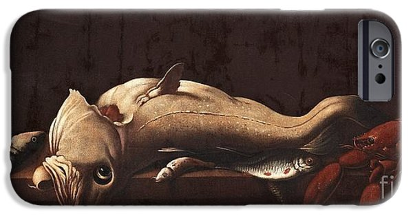 Still Life With Fish And Lobster IPhone Case by MotionAge Designs