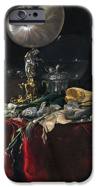 Still Life With Fish IPhone Case by Willem