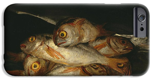 Still Life With Golden Bream IPhone Case by Francisco Goya