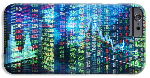 Stock Market Concept IPhone Case by Setsiri Silapasuwanchai