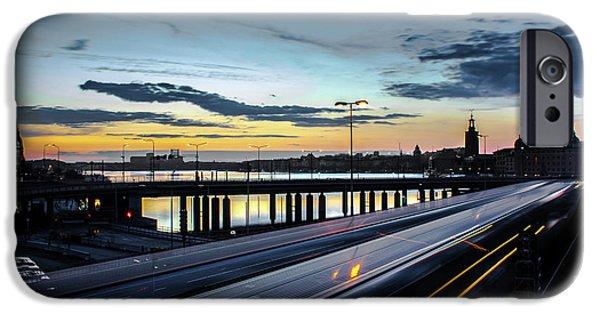 Stockholm Night - Slussen IPhone Case by Nicklas Gustafsson
