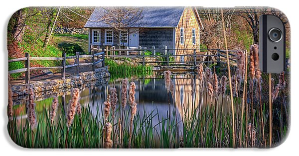 Stony Brook Grist Mill IPhone Case by Rick Berk