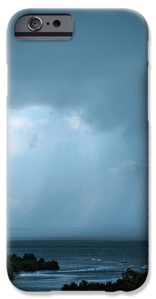 Storm On The Bay IPhone Case by Frank Mari