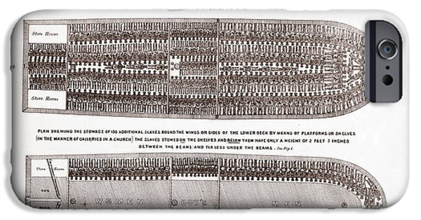 Stowage Of The British Slave Ship Brookes Under The Regulated Slave Trade Act  IPhone Case by American School