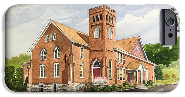 Strasburg United Methodist Church IPhone Case by Raymond Edmonds