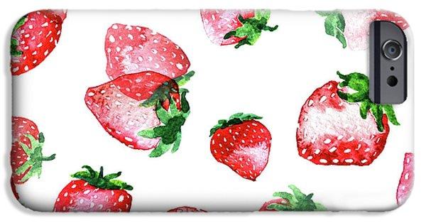 Strawberries IPhone 6s Case by Varpu Kronholm