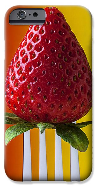 Strawberry On Fork IPhone 6s Case by Garry Gay