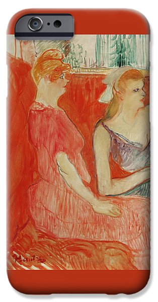 Study For In The Salon On The Rue Des Moulins IPhone Case by Henri de Toulouse-Lautrec