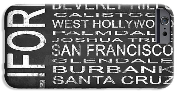Subway California State Square IPhone 6s Case by Melissa Smith