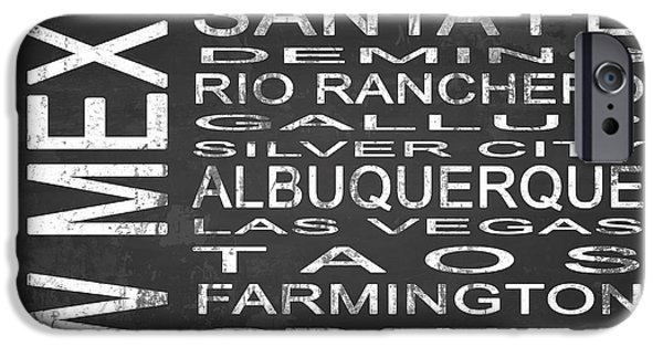 Subway New Mexico State Square IPhone Case by Melissa Smith