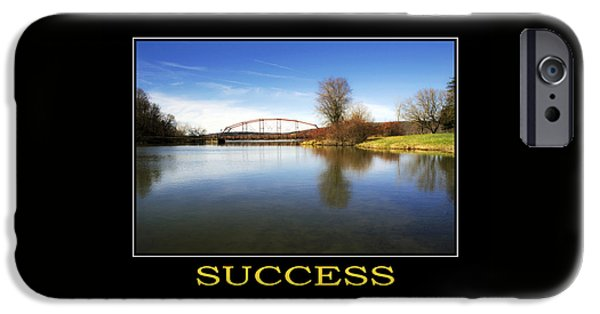 Success Inspirational Motivational Poster Art IPhone Case by Christina Rollo