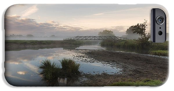 Sudbury Meadows Bridge IPhone Case by Ian Merton