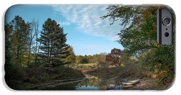 Sudbury River Boat Launch IPhone Case by Jean-Louis Eck