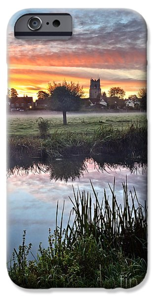 Sudbury Water Meadows At Dawn IPhone Case by Mark Sunderland