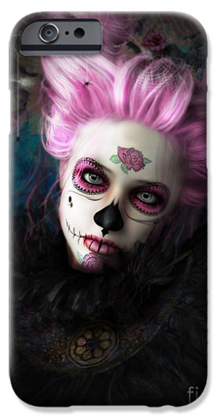 Sugar Doll Pink IPhone Case by Shanina Conway
