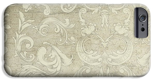 Summer At The Cottage - Vintage Style Wooden Scroll Flourishes IPhone Case by Audrey Jeanne Roberts