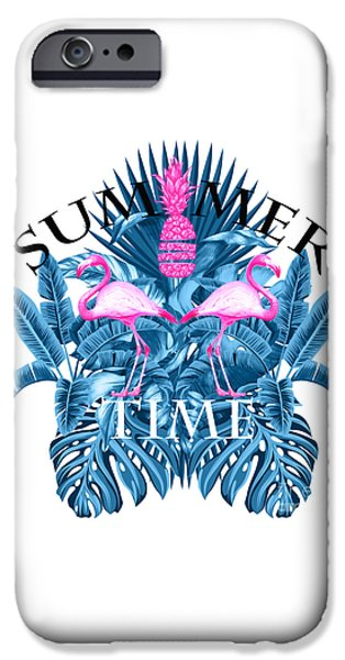 Summer Time Tropical  IPhone Case by Mark Ashkenazi