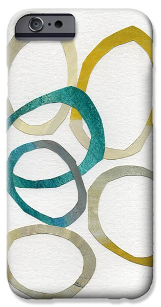 Sun And Sky- Abstract Art IPhone Case by Linda Woods