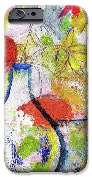 Sunday Market Flowers- Art By Linda Woods IPhone Case by Linda Woods