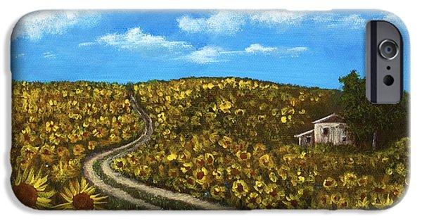 Sunflower Road IPhone Case by Anastasiya Malakhova