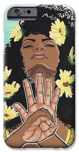 Sunflowers And Dashiki IPhone Case by Alisha Lewis