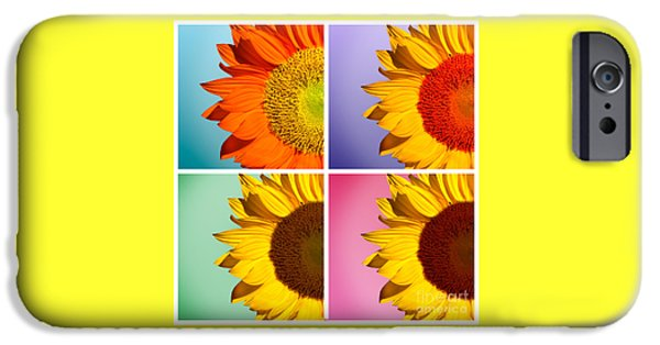 Sunflowers Collage IPhone 6s Case by Mark Ashkenazi