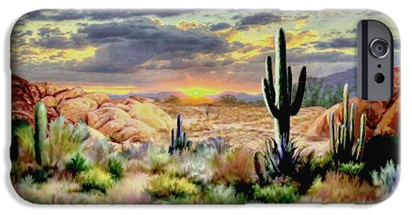 Sunset At Sadona IPhone Case by Ron Chambers