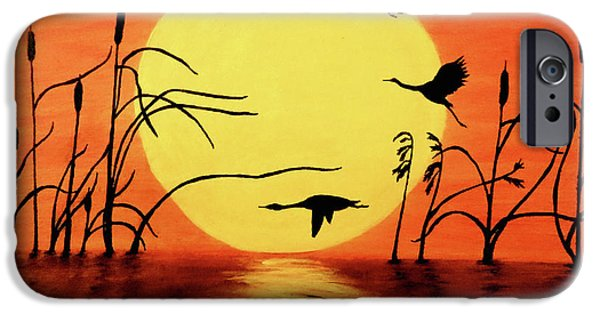 Sunset Geese IPhone 6s Case by Teresa Wing
