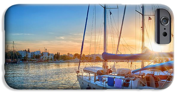 Sunset In Kos IPhone Case by Delphimages Photo Creations