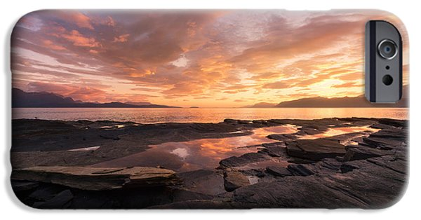 Sunset On The Rocks IPhone Case by Tor-Ivar Naess