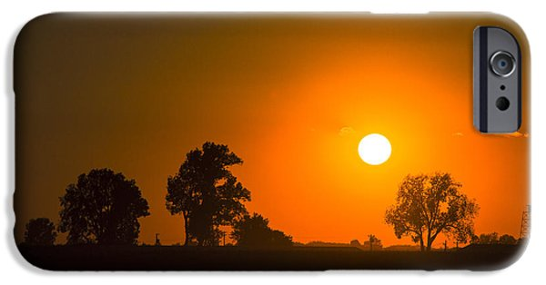 Sunset Over Farmland IPhone Case by Andrea Kappler