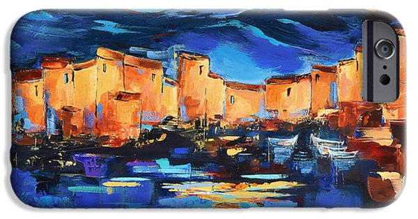 Sunset Over The Village 2 By Elise Palmigiani IPhone Case by Elise Palmigiani