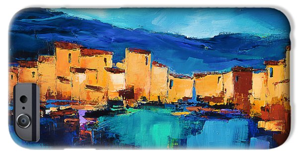 Sunset Over The Village 3 By Elise Palmigiani IPhone Case by Elise Palmigiani