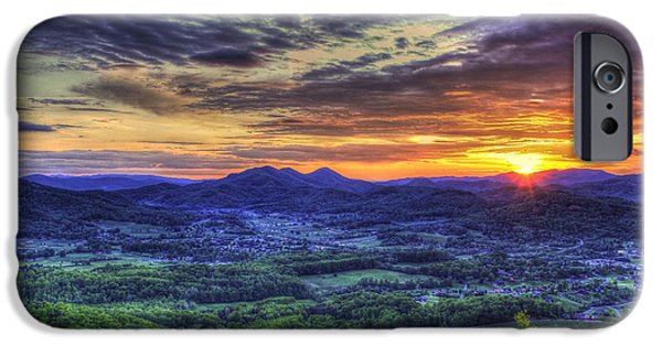 Sunset Over Wears Valley Tennessee Mountain Art IPhone Case by Reid Callaway