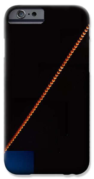 Super Blood Moon Eclipse 2015 IPhone Case by Peter Tellone